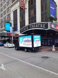 digital mobile billboard research drive consumers outside state theatre